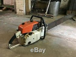090 G Stihl Chainsaw with48 Original Bar (1980s West Germany Made), Gear Driven