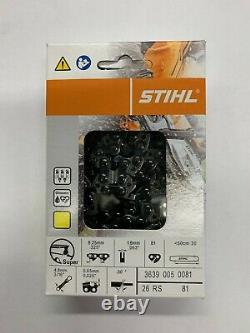 26RS 81 BULK 15 BOXES STIHL NEW CHAINSAW CHAIN SAW 20 in. 325.63 81 20 IN