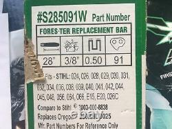 Forester 28 Pro Bar And Ripping Chain Saw Chain 3/8-050-91 Fits Stihl