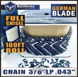 Holzfforma 100FT Roll. 3/8''LP. 043'' Saw Chain Compatible With Stihl Husqvarna
