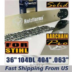 Holzfforma 36.404.063 104DL Guide Bar & Saw Chain Combo For Stihl Chainsaws
