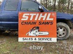 LARGE 58X46 Stihl Chainsaws Sales and Service Sign Chain Saws Gas Oil