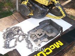 Mcculloch sp125 125 cp pro vintage chainsaw kart 797 790 36 in bar 101b stihl