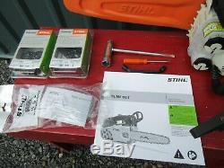 Nice Stihl MS192TC Chainsaw MS192 TC Arborist Saw 14 Bar +2 New Chains + Manual