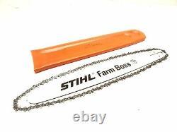 OEM STIHL MS 271 Farm Boss Chainsaw Saw 20 Bar, Chain, Bar Cover #3003 812 6821