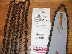 Oregon 20 Bar 203SLGD025 & 4 22LPX081G chains. 325 pitch fits Stihl 028 MS290