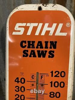Original Stihl Chain Saws Advertising Thermometer Sign