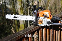 PILTZ Stihl MS180 HOT SAW 20 inch CANNON bar and Stihl Chain Perfect CHAINSAW