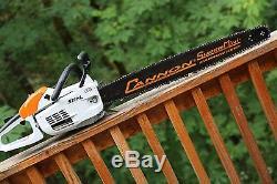 PILTZ Stihl MS201C HOT SAW 28 inch Cannon bar and Chain Perfect CHAINSAW