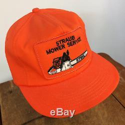 Rare Vintage Stihl Chain Saw Trucker Snapback Hat Cap K products Orange Mower