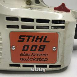 STIHL 009 Chain Saw 14 Bar Electronic Quick Stop With Craftsman Case 311Y