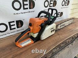 STIHL 025 Wood Boss Chainsaw 45CC 1-OWNER SAW With 18 Bar & New Chain FAST Ship