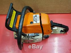 STIHL 034 CHAINSAW 57cc CHAIN SAW SEIZED BAD HANDDLE SOME GOOD PARTS WS 135