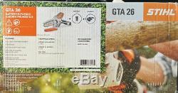 STIHL GTA 26 MINI HAND CHAIN SAW PRUNER Cordless Pistol Grip Battery Powered NEW