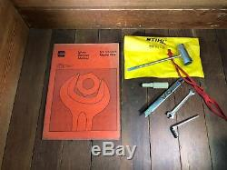 STIHL OEM NEW NOS NIB 08S Chainsaw New In Box w Documentation Collector Museum