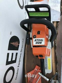 Stihl 026 Chainsaw BRAND NEW OEM VINTAGE CHAINSAW NOS With BOX & EXTRAS