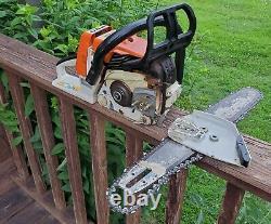Stihl 026 Pro Chainsaw Good Running Professional Logging Farm Wood Saw Bar Chain