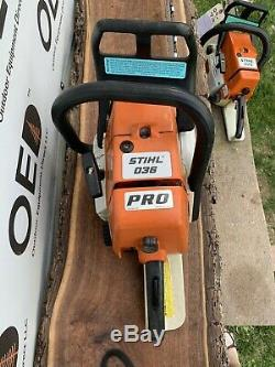 Stihl 036 PRO Chainsaw 61CC SAW GREAT RUNNING 20 SHIPS FAST / MS360