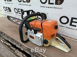 Stihl 044 Chainsaw NICE 1-Owner 71cc Saw With New 24 Bar & Chain / Ships Fast