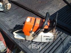 Stihl 046 Magnum Chainsaw ms460 Runs Great powerhead D chamber Dual Port muffler