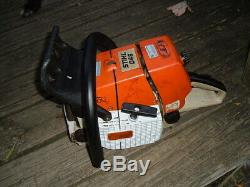 Stihl 046 Magnum chainsaw Hyway Big bore Runs Great Powerhead ms460 1128 pho 066