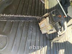 Stihl 193T Top Handled Climbing Saw. Runs Well, Missing Oil Cap 16in Bar/Chain