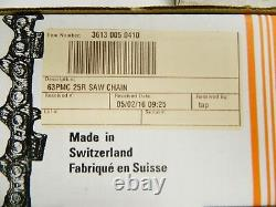 Stihl 25Ft Saw Chain 3613 005 0410 Oilomatic 63PMC 25R Genuine OEM