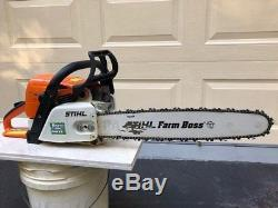 Stihl Chainsaw MS290 with 20 bar chain, textbook and tools but not working
