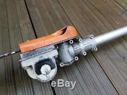 Stihl HT-KM Kombi Pole Pruner / Chainsaw Attachment Used + new spare chain