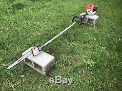 Stihl KM110R Commercial Trimmer POLE SAW / HEAVY DUTY SOLID RUNNING PRUNER HT