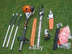 Stihl KM130 Combi New Strimmer Hedge Trimmer Chainsaw Split Shaft Kombi KM HL