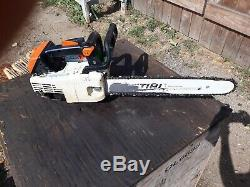 Stihl MS200T Professional top handle saw with16 bar and extra chains