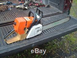 Stihl MS460 Magnum Chainsaw Runs Great Mostly oem 77cc 20 bar n chain 046 461