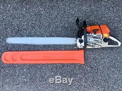 Stihl MS660 066 MAGNUM Chainsaw Starts & Runs Great 32 Bar & Cover Wrap Handle