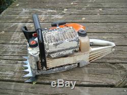 Stihl MS660 Magnum Chainsaw 98cc Big Bore 066 Runs Great 1122 ms661 READ ALL
