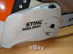 Stihl MSA 200 C Battery Chain Saw 14 Bar with 2 AP 300 batteries and charger