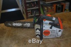 Stihl MS 192 T Chainsaw With14 Bar & chain! Top Handle Arborist Chainsaw
