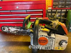 Stihl MS 200 T Chainsaw complete top handle arborist MS200t chain saw needs tune
