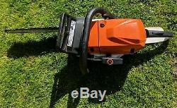 Stihl MS 362 15 Arborist Chainsaw with Chain Tools Manual & Husqvana Fuel Can