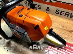 Stihl MS 441 Magnum Chain Saw 5 140 Compression Great Running Saw 25 Bar