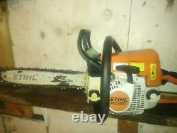 Stihl Ms250C chainsaw easy recoil start 16 bar and good chain very nice saw
