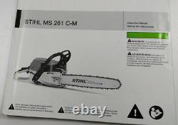 Stihl Ms261c-m Chain Saw With New Stihl Brand 18 Bar & Chain