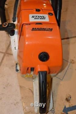 Stihl Ms 880 Chainsaw, Trade-in, Runs, No Warranty, Power Head Only