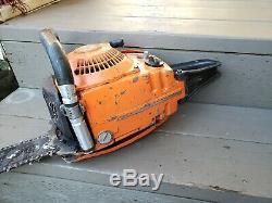 Vintage Husqvarna L65 Chainsaw Firewood Stihl Echo Homelite Husky L77 Logging