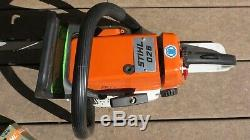 Vintage NEW Stihl 026 Chainsaw with 2 Chains, Manual, Case, Tools NEVER Fueled