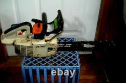 Vintage STIHL 009L Electronic QuickStop Chainsaw Top Handle Arborist Chain Saw