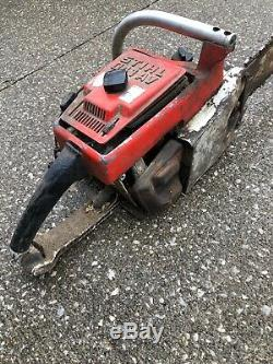 Vintage STIHL 041AV Chainsaw Chain Saw Has Compression Untested For Parts