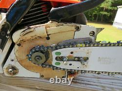 Vintage Stihl 028 Wood Boss New 18 Bar and Chain Tight One Owner Saw