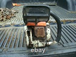 Vintage Stihl 032 AV 51cc Chain Saw Power Head- Runs- Good Condition