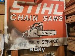 Vintage Stihl Chain Saws Sales and Service Store Display sign